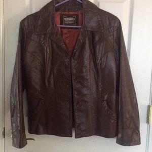 Howard's Brown Leather Jacket